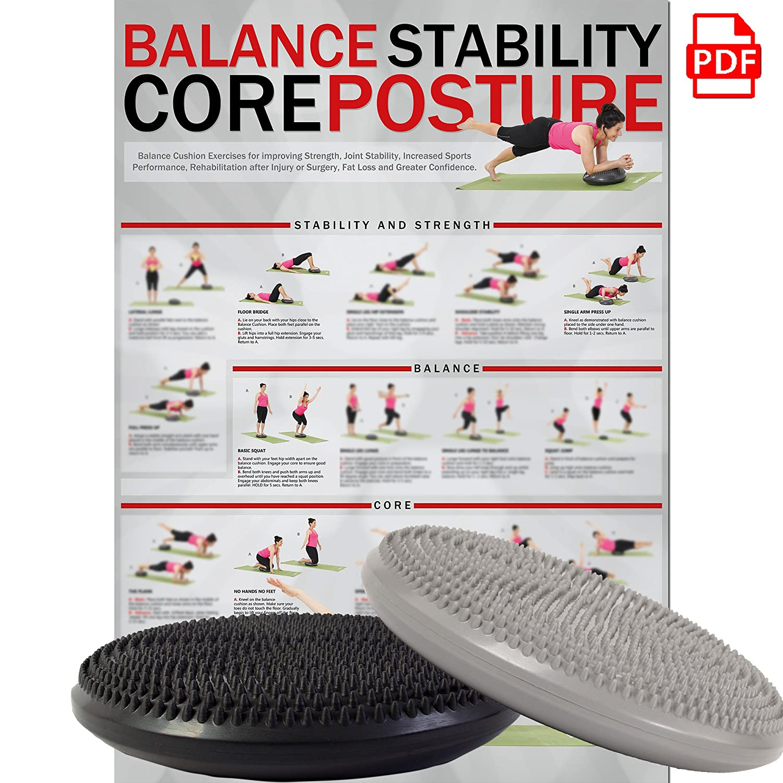 POWRX Cojín de Equilibrio para Yoga y Pilates: Amazon.es ...