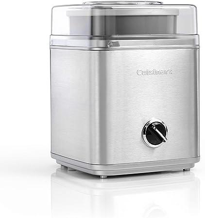 Cuisinart ICE30BCE Heladera 2 L, Helados cremosos, Sorbetes y Yogur Helado en Solo 25 Minutos, automático, fácil de Usar, Tapa Transparente, 35 W, 2 litros, Acero Inoxidable: Amazon.es: Hogar