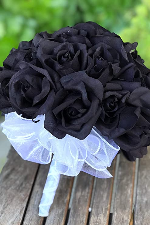 Thebridesbouquet Rosa Negra Para Bodas Y Noches Románticas Home Kitchen
