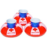 GoFloats Inflatable Drink Guard Drink Holder (3 Pack), Float your drinks in style