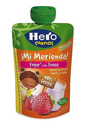 Hero Nanos Bolsita Merienda Yogur Fresa - 100 gr