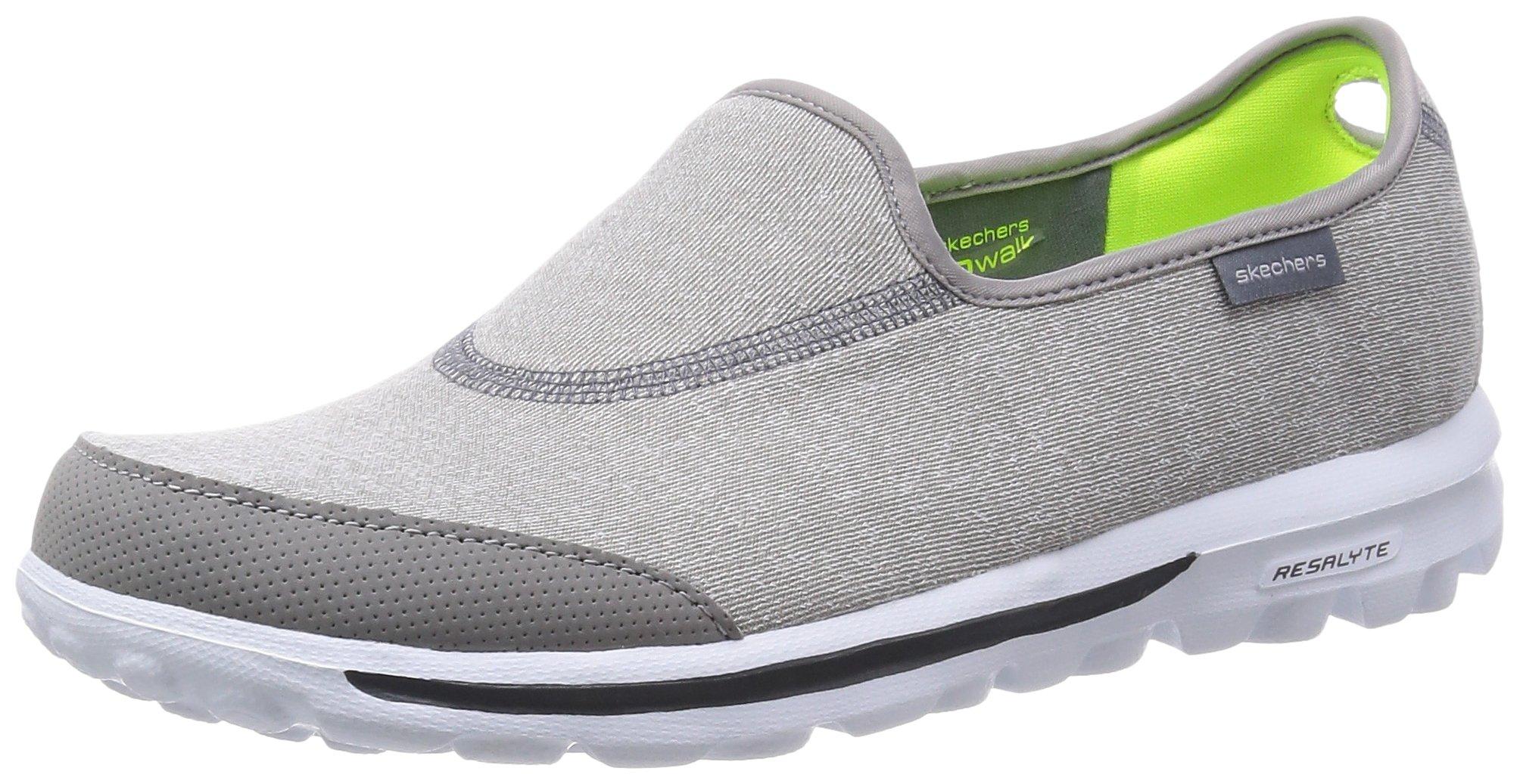 Skechers Performance Women's Go Walk Impress Memory Foam Slip-On Walking Shoe, Gray, 7 M US