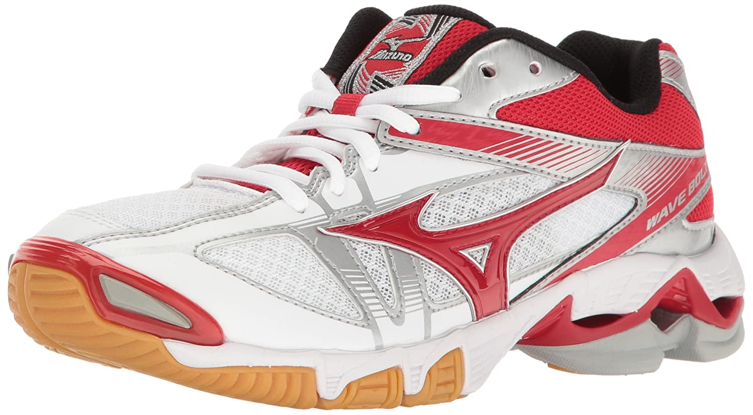 Mizuno Women's Wave Bolt 6 Volleyball-Shoes B01N75DVFK 13 B(M) US|White/Red