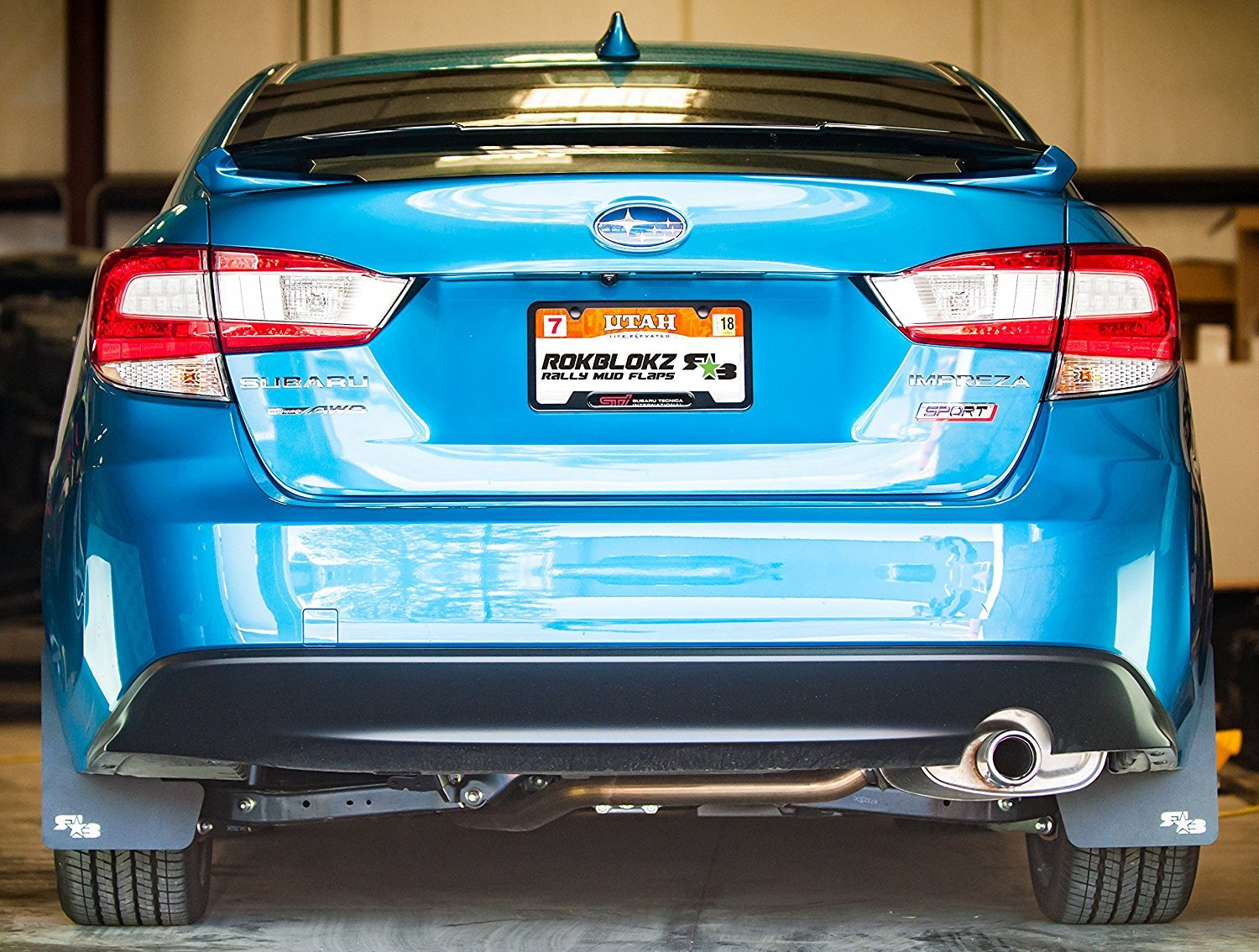 Includes All Mounting Hardware Mud Guards are Custom Cut and Fit Black with Black Logo, Original Subaru Impreza RokBlokz Mud Flaps for 2017 Multiple Colors Available