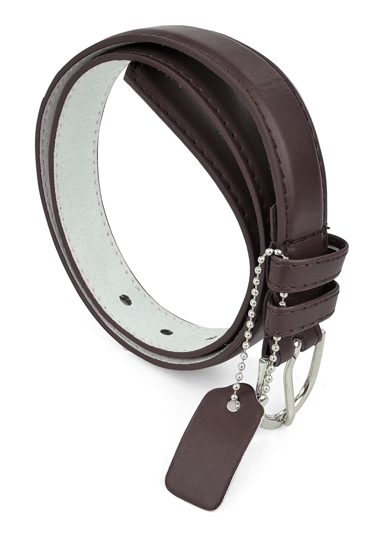 Girls/Kids Leather Belt Polished Belt Buckle Girls Solid Color PU Leather Belts by Belle Donne