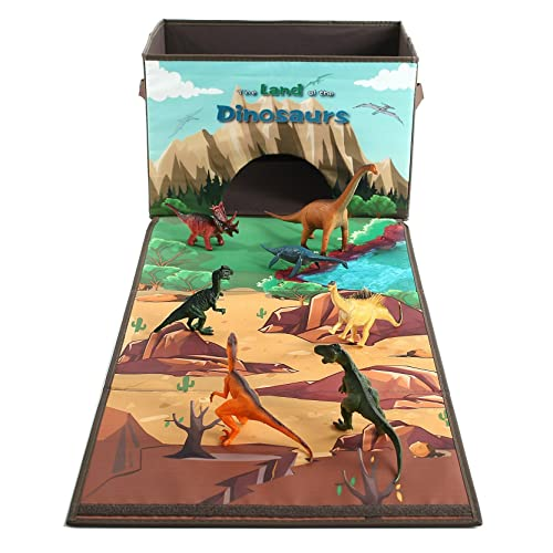 Dinosaur Toy Box Storage Organizer Playset