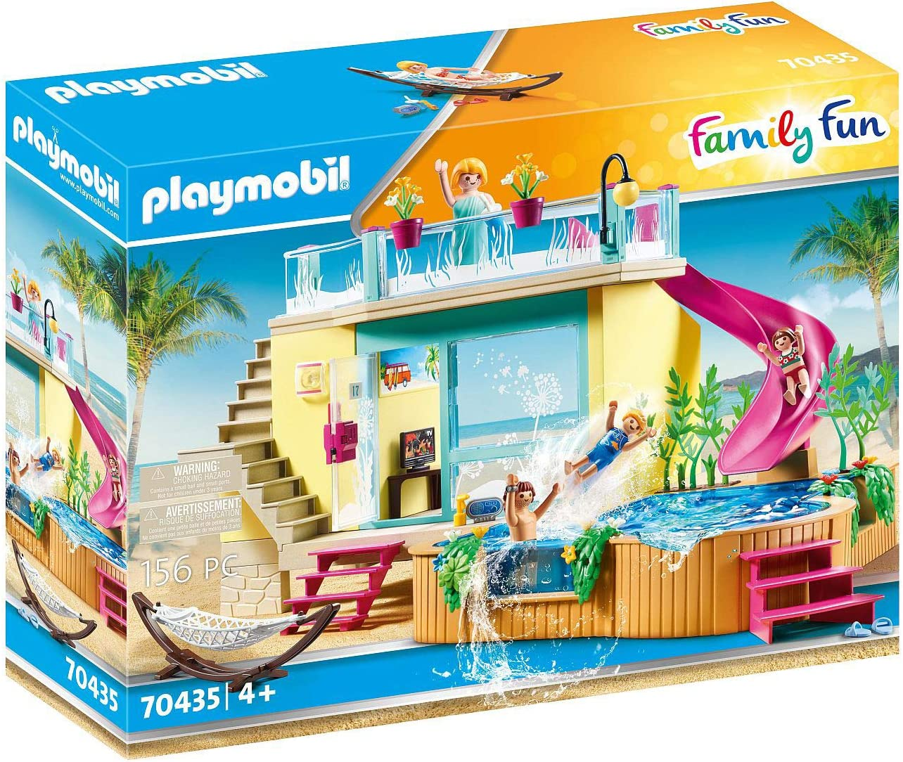 Playmobil Family Fun 70435 - Bungalow con Piscina, a Partir de 4 años: Amazon.es: Juguetes y juegos