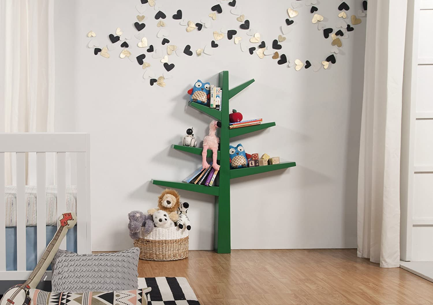 amazoncom babyletto spruce tree bookcase green baby -