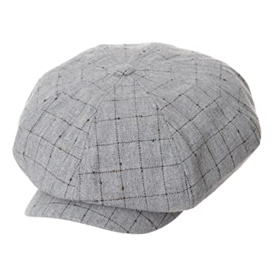 e7f14989 WITHMOONS Wool Baker Boy Cap Lattice Check Plaid Beret Ivy Hat LD3778  (Grey): Amazon.co.uk: Clothing