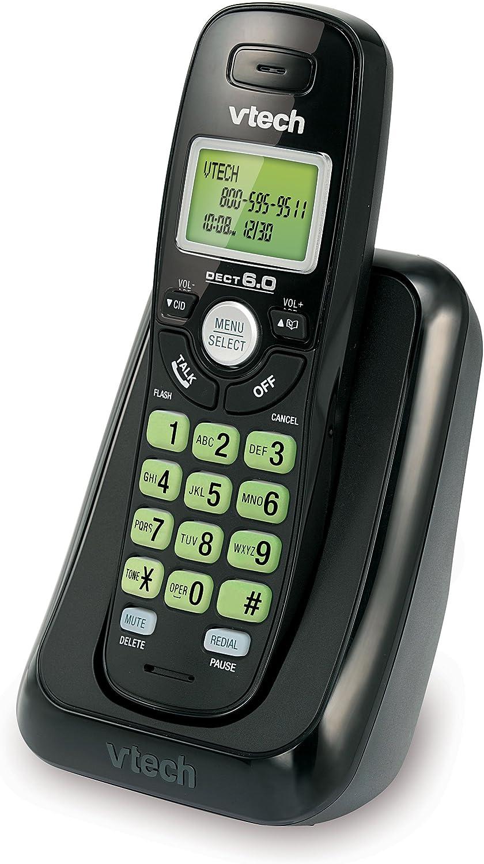 Vtech va17141bk DECT 6.0 Teléfono inalámbrico con identificador de Llamadas, 1 Terminal, Color Negro: Amazon.es: Electrónica