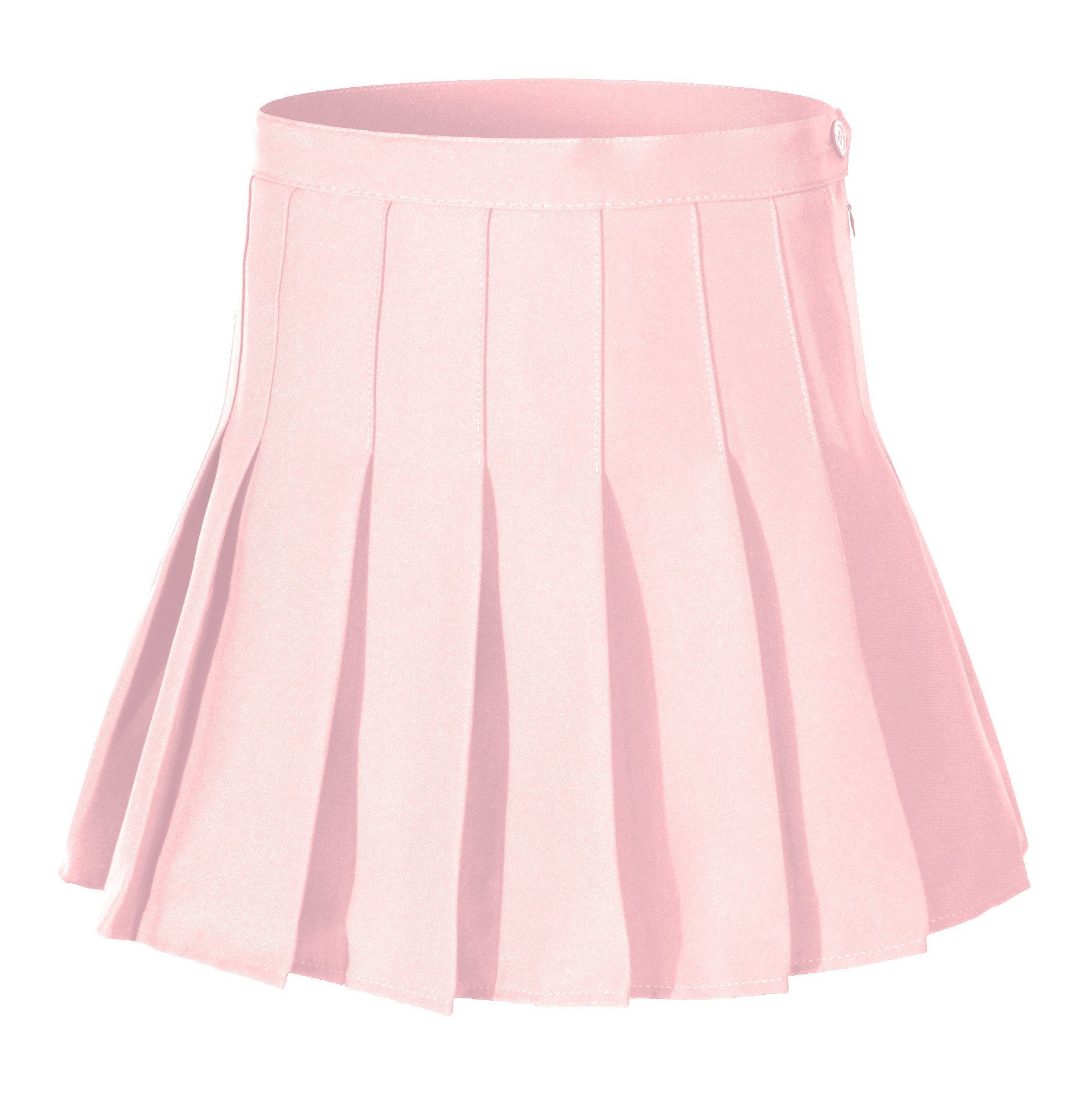 Beautifulfashionlife Women's High Waist Solid Pleated Mini Tennis Skirt (M, Red)