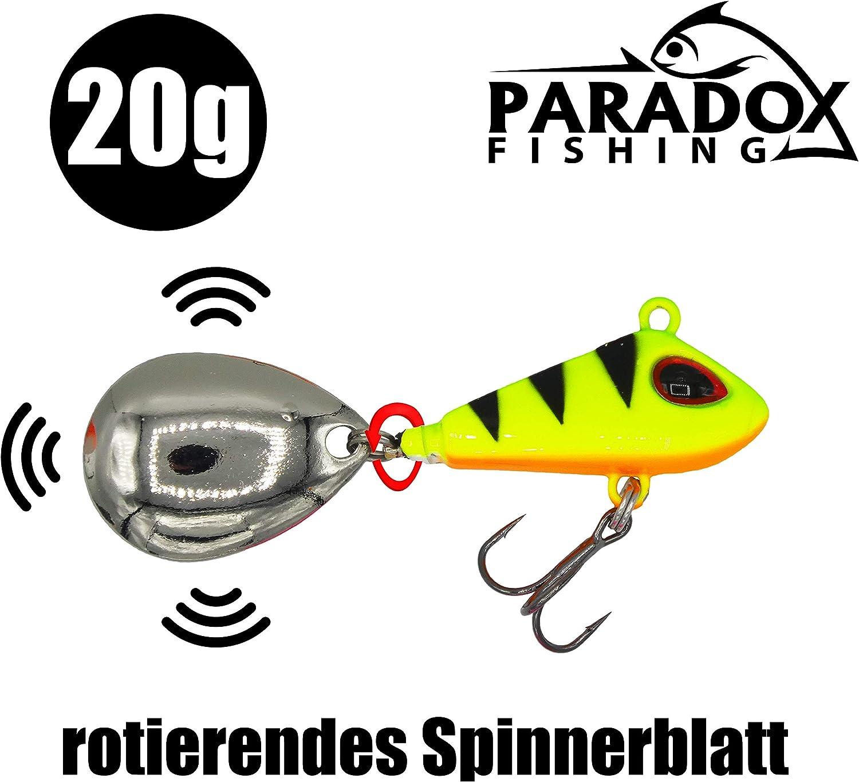 leurre /à t/ête plomb/ée Spinnerbait app/ât /à araign/ée Tailspinner brochet sandre Paradox Fishing Jig Spinner Lot de 5 app/âts de p/êche 6 g//10 g//15 g Spin Jig pour perche perche Leurre de bar optimal