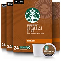 Starbucks Medium Roast K-Cup Coffee Pods — Breakfast Blend for Keurig Brewers — 4 boxes (96 pods total)