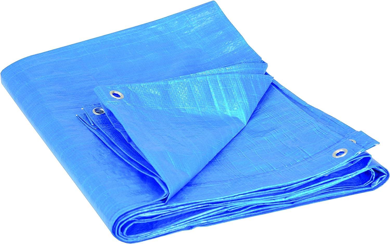 iWork - L-81-842 Toldo Multiusos 2x3 metros 80 gr/m2 con ojetes color azul