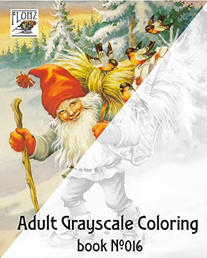 adult coloring book 24 pages 8x11a4 christmas gnomes lars