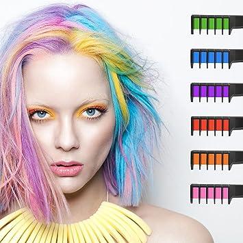 Amazon.com: Hair Chalk, Ociga Temporary Hair Color Comb for Hair ...