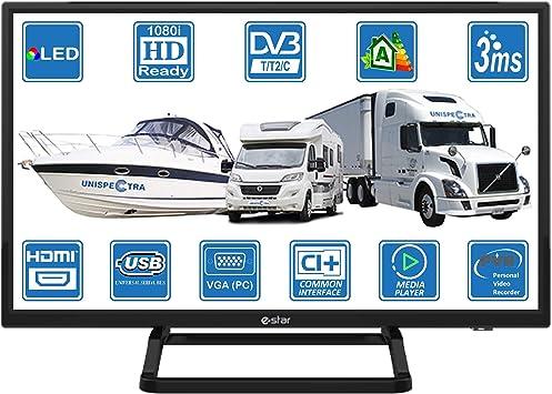 Camping Car Caravane Barco 12 V 24 pulgadas LED HD TV digital DVB ...