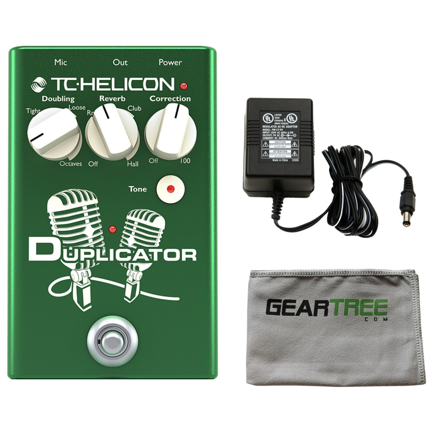 TC Helicon 996372001 DUPLICATOR Vocal Effects Pedal w/ Polish Cloth and Power Supply 4334435178