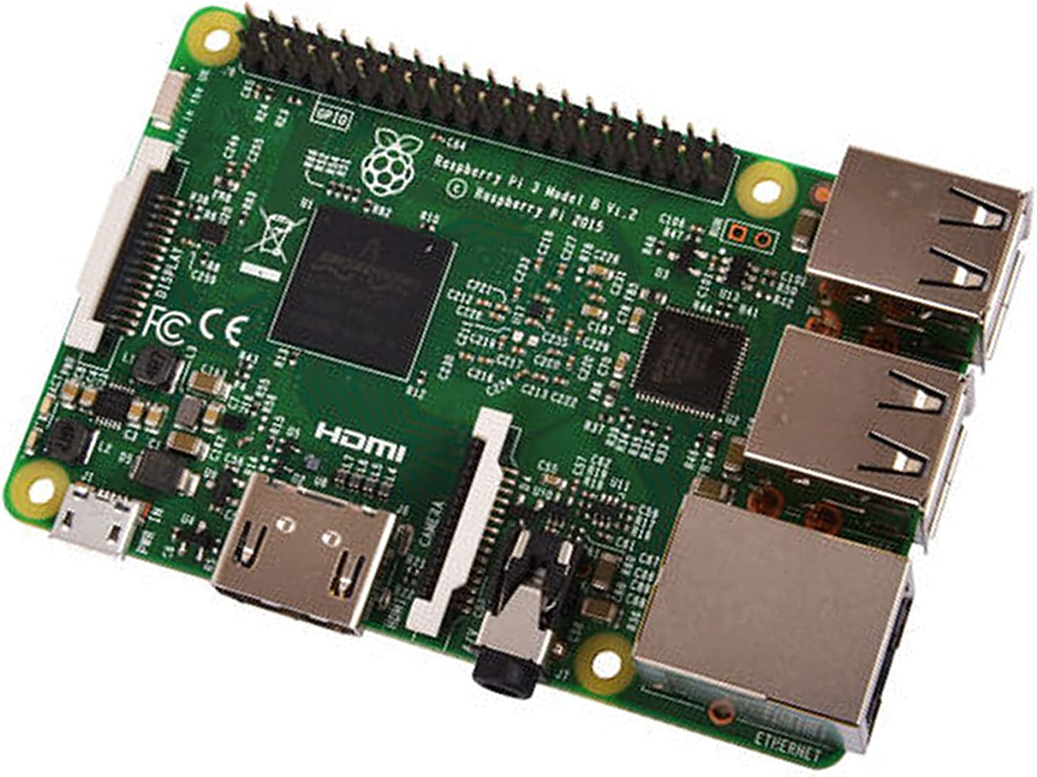 Raspberry Pi 3 Model B, CPU Quad Core 1,2GHz Broadcom BCM2837 64bit , 1GB RAM, WiFi, Bluetooth BLE