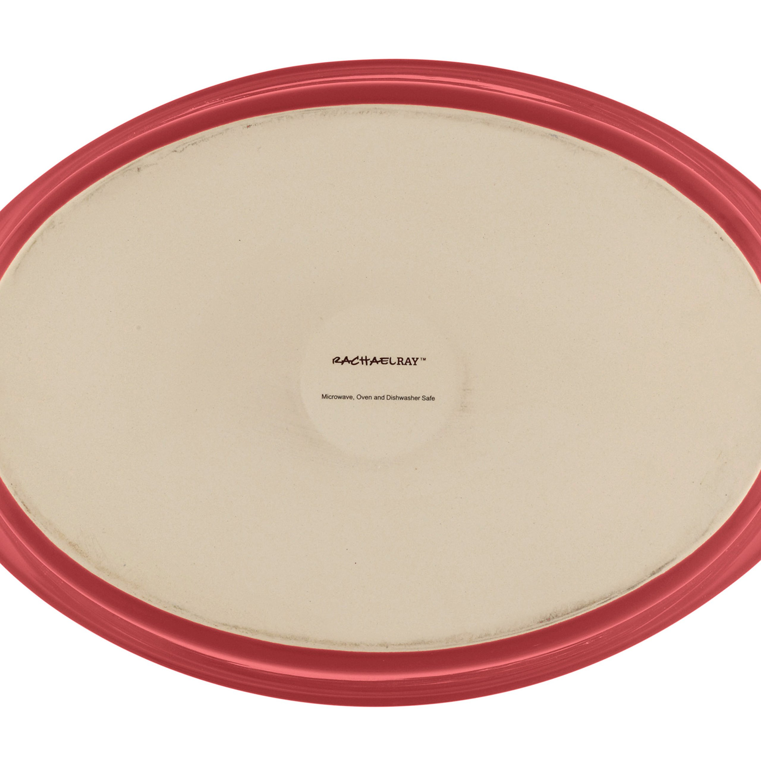 Rachael Ray Stoneware 1-1/4-Quart and 2-1/4-Quart Oval Bubble & Brown Baker Set, Red by Rachael Ray (Image #6)