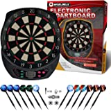 WIN.MAX Electronic Dart Board Soft Tip Dartboard Set LCD Display with 12 Darts 100 Tips Power Adapter