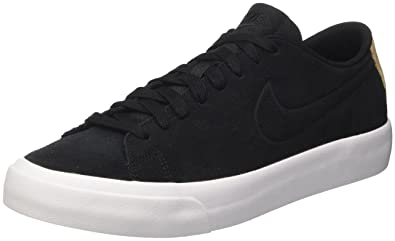 reputable site 10248 ab60e Nike Mens Blazer Studio Low Trainers, Black-Vachetta Tan-White, 9 UK
