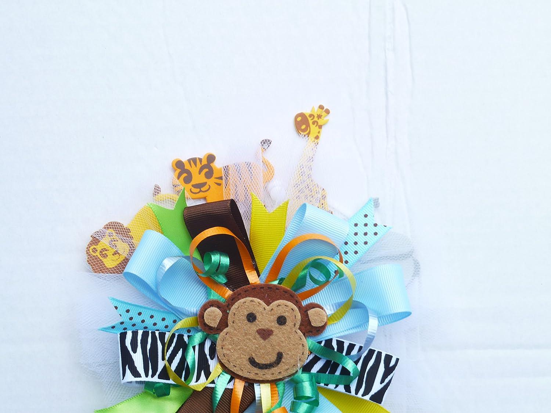 Good Amazon.com : Fun Safari Zebra Jungle Book Baby Shower Birthday Corsage For  Mom Monkey Baby Shower Corsage (Jungle Book Theme Multicolor  Round With  Monkey) ...