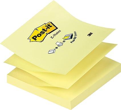 Post-it Bloc Notas Z - Notas autoadhesivas, 1 unidades x 100 hojas ...