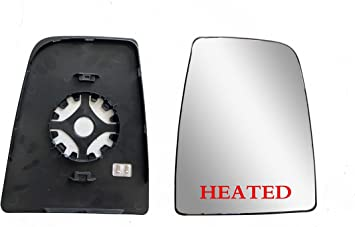 Ford Transit MK8 Heated Wing Mirror Large Glass O//S Backing Plate 2014 Onward