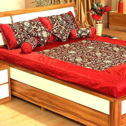 TIB 7 Pc Polycotton Luxury Designer Bedsheet Set (Set Of 7 Pcs) 1 Bedsheet