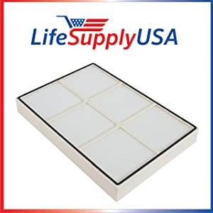 LifeSupplyUSA Replacement HEPA Filter Compatible with Whirlpool Whispure 1183054K AP350 AP450 AP510 Air Purifiers (Plastic Frame)