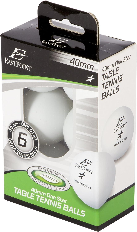 Eastpoint 40 mm One Star Balles de tennis de table NEUF 6 Boîte de