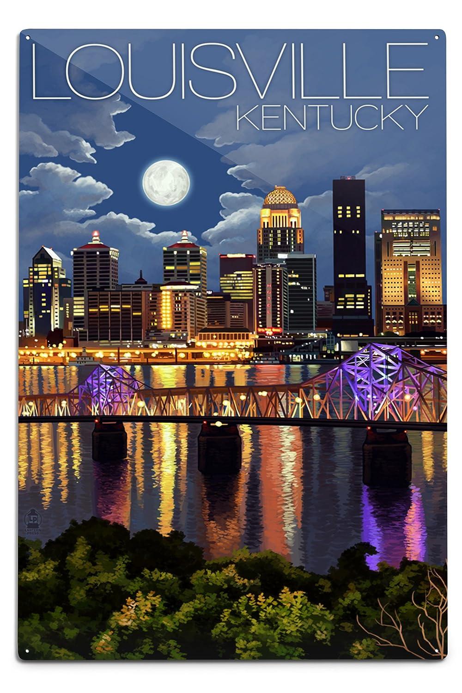 【在庫処分大特価!!】 ルイビル、ケンタッキー州 – Sign 夜のスカイライン 16 x 24 Giclee Giclee 12 Print LANT-45568-16x24 B06Y1H3F3S 12 x 18 Metal Sign 12 x 18 Metal Sign, ヨシノグン:ccb37496 --- kiddyfox.in