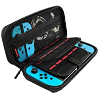 Nintendo Switch Case, GIM Protective Hard Shell Portable Travel Carry Case Pouchwith Larger Storage Space for 20 Game Cartridges, AC Adapter and Nintendo Switch Console & Accessories