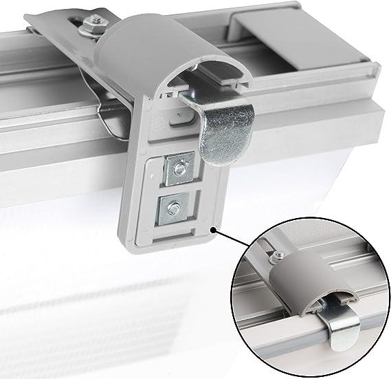 Blanc Sol Royal SolDecor DK9 Double Store enrouleur à cassette jour nuit clips Klemmfix 45x160 cm Avec ou sans percage