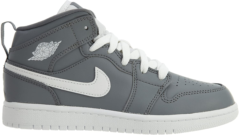 Jordan 1 Mid BP Boys Little Kids Shoes Cool Grey//White//White 640734-036