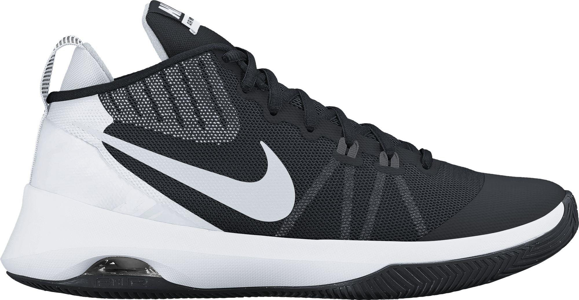 NIKE Mens Air Versitile Nbk Basketball-Shoes (10, Black/Metallic Silver/Dark Grey)
