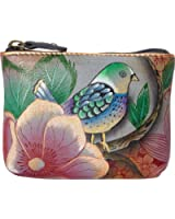 Anuschka Women's Hand Painted Pouch Blissful Birds Coin Purse