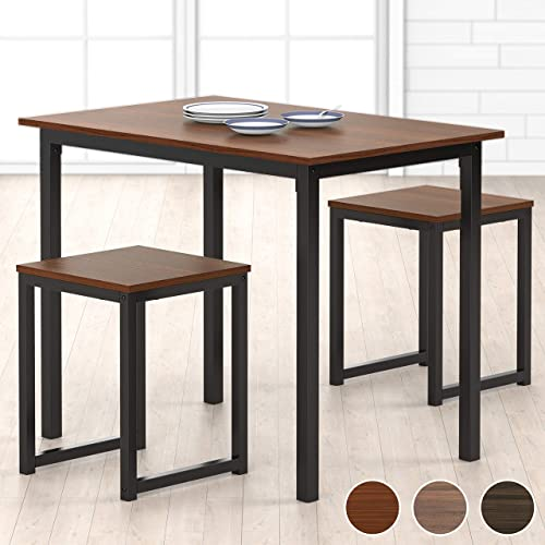HOMURY Modern Wood 3 Piece Dining Set Studio Collection Soho Dining Table