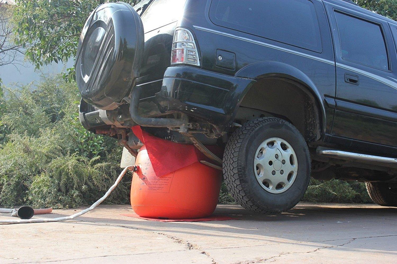 Trolley Jack Tyre Lift Jacks Repair Tools Kit Vogvigo Inflatable Car Jack,4 Ton Inflatable jack Exhaust and Pump Dual Use