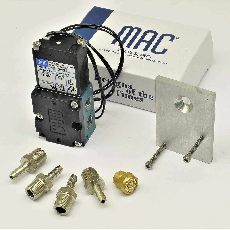 Circuit Se7en Simple Bracket /& FIttings with genuine MAC 4 port solenoid Boost valve 46A-AA1-JDBA-1BA