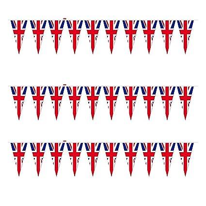 Shatchi 70 m Unión Jack 50 juegos olímpicos de triángulo banderines ...