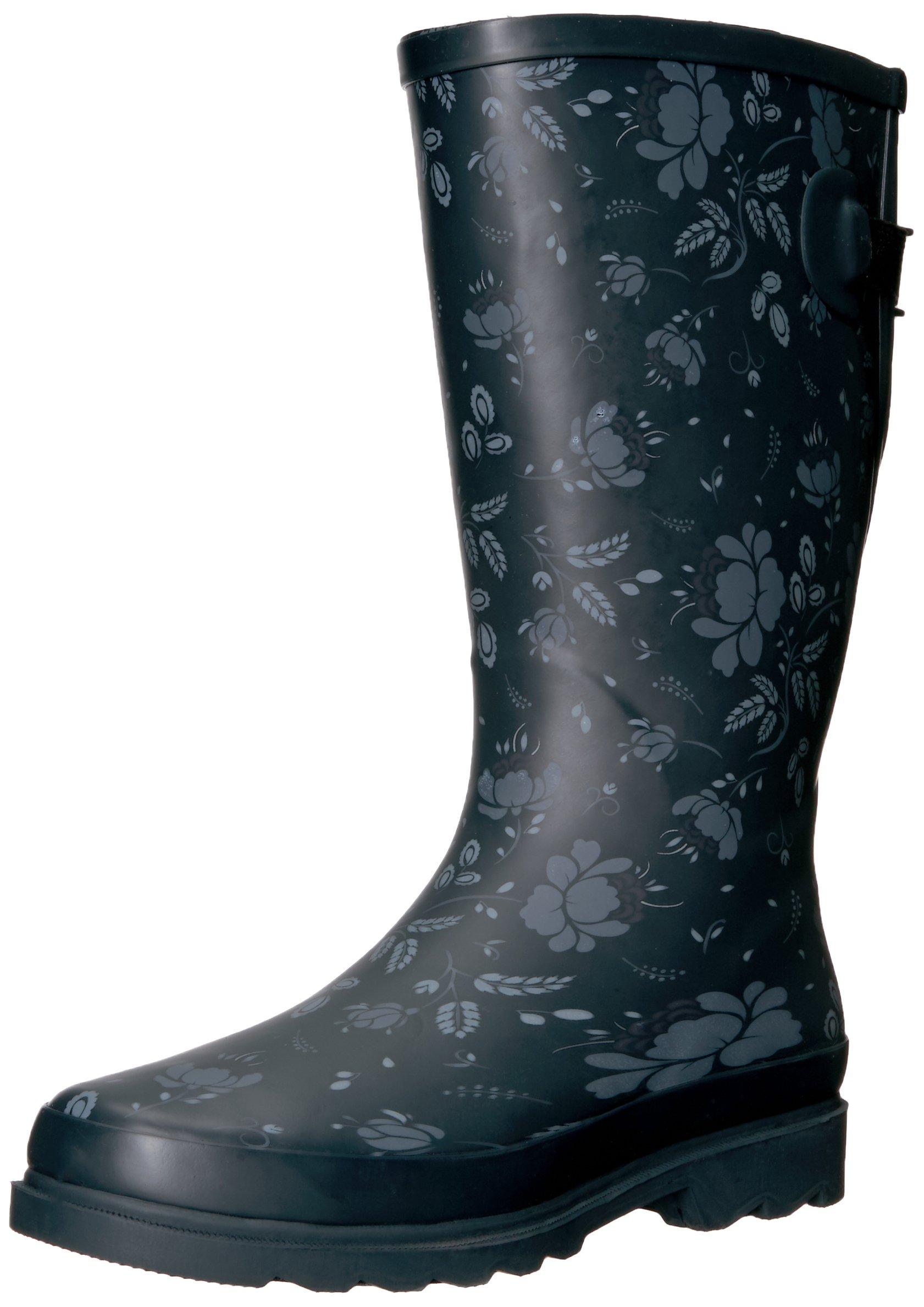 Western Chief Women Wide Calf Rain Boot, Feminine Floral, 7 W US