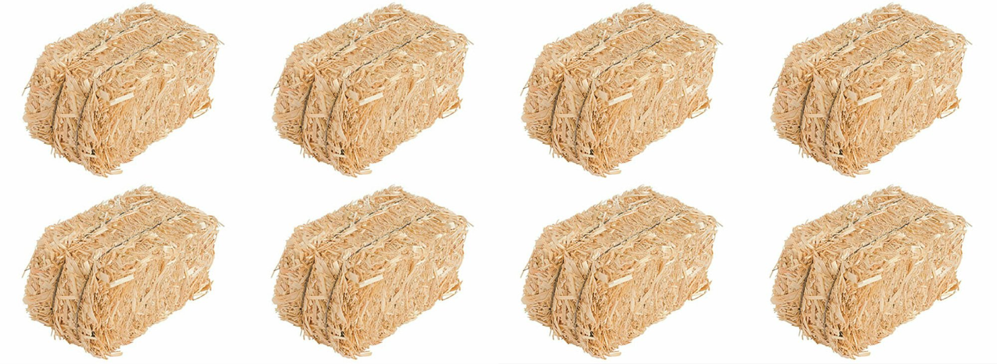 Straw Bale for Indoor or Outdoor Home Decor, 13 in, Set of 8