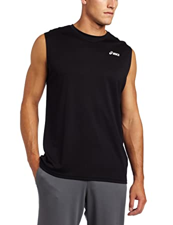 Amazon.com: ASICS Men's Circuit 7 Warm-Up Sleeveless Shirt: Sports ...