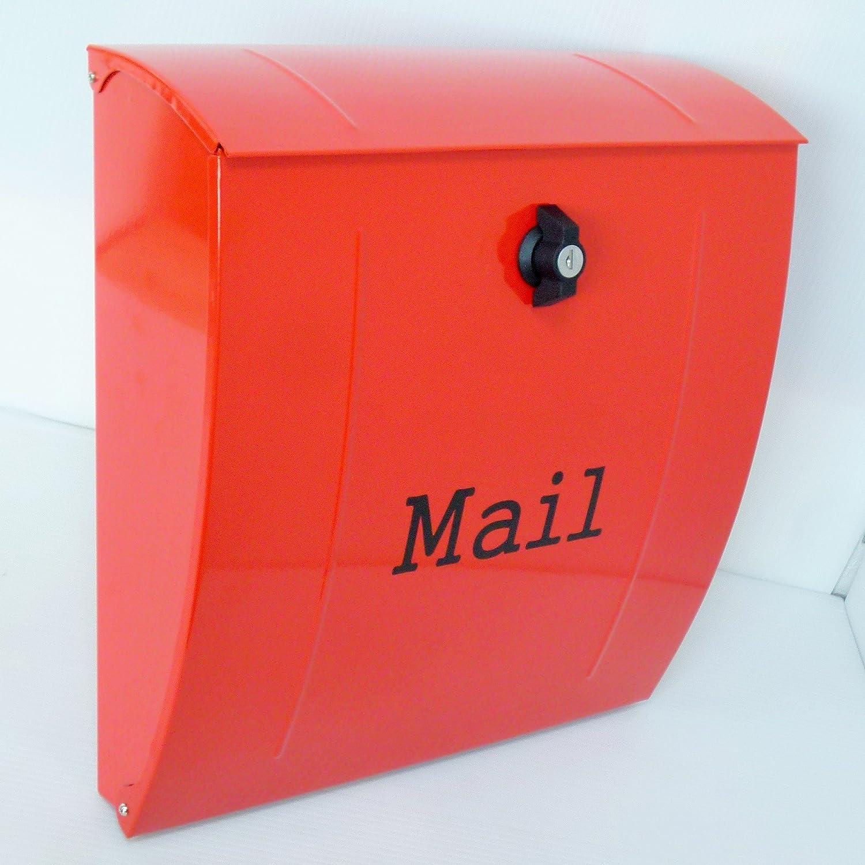郵便ポスト郵便受け北欧風大型メールボックス 壁掛けプレミアムステンレス赤色ポストpm021 B0711TTJBB 12880