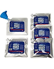 Set of 5 Cooler Shock lunch bag size ice packs - high performance 18 degree Fahrenheit using phase change science to achieve 8-10 hour cooling - avoid spoilage so you can eat your lunch!