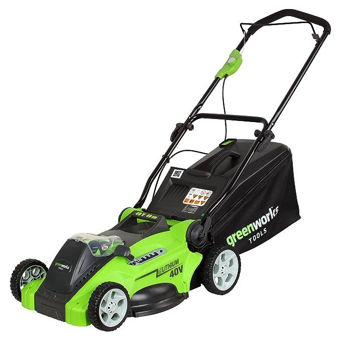 Greenworks Tools 2500007 - Cortacésped (40 V, funciona con batería ...