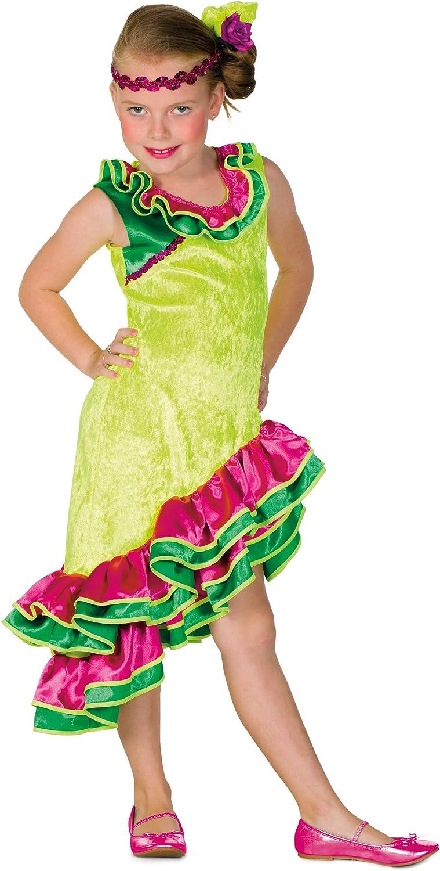 Generique - Disfraz rumbera Amarillo niña: Amazon.es: Juguetes y ...