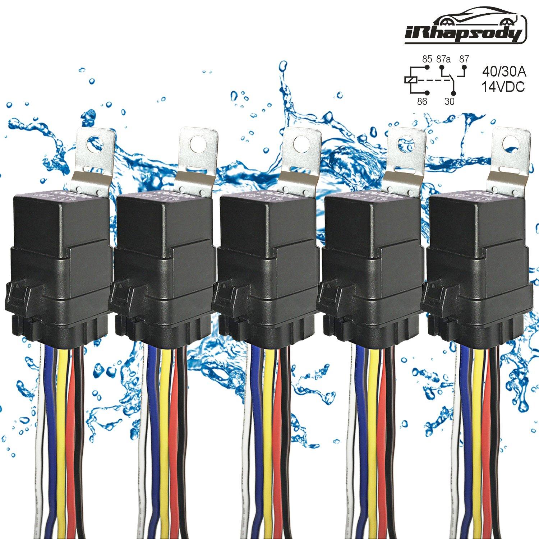New 5 Pack 40 30 Amp Automotive Waterproof Relay Switch Set Heavy Bosch Wiring Diagram Duty 12
